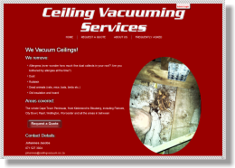 Ceiling Vacuuming Services